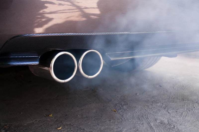 White smoke from tailpipe when starting car