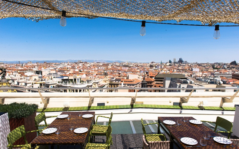 the rooftop bars Madrid