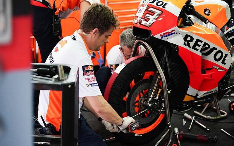 the brake pads