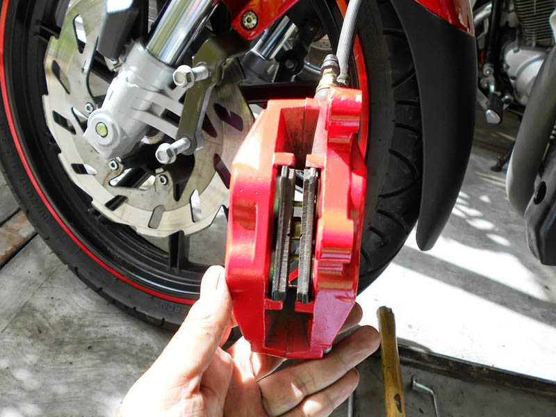 change the brake pads
