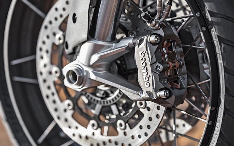 brake pads of the motorcycle