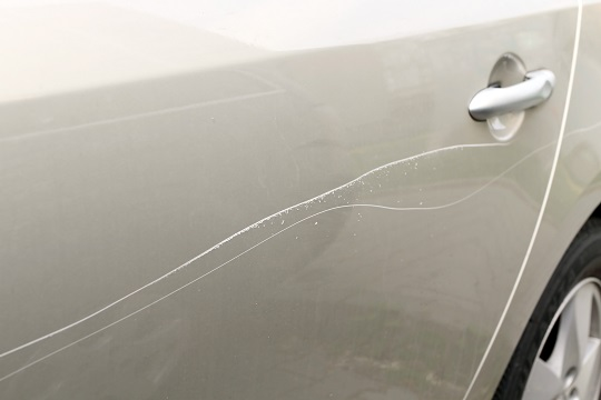 scratches on car door
