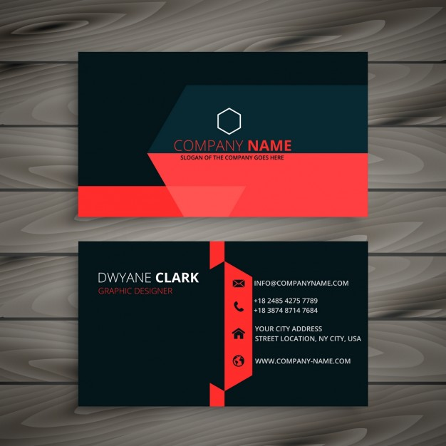 Card with details