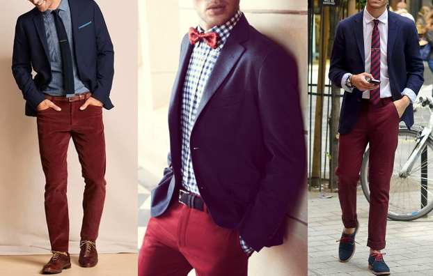 What color shirt with blue blazer