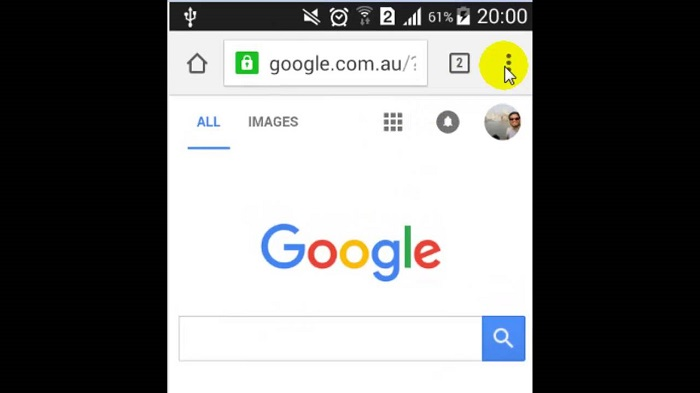 how to set homepage on android phone