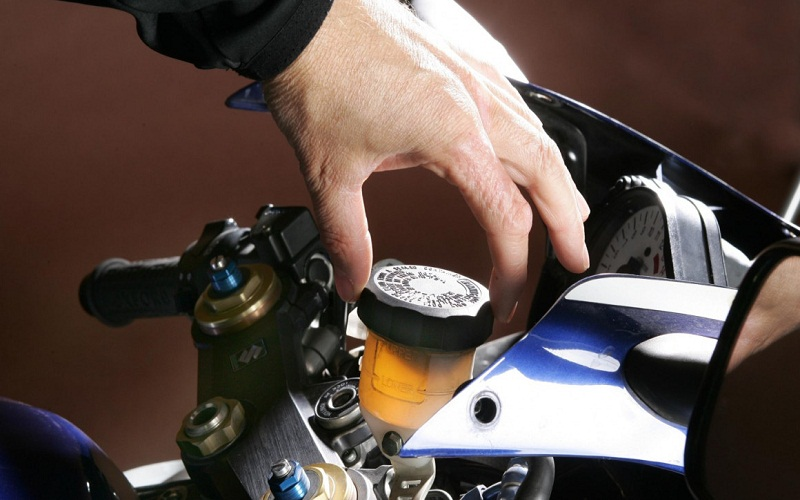 discover brake pads of the motorcycle