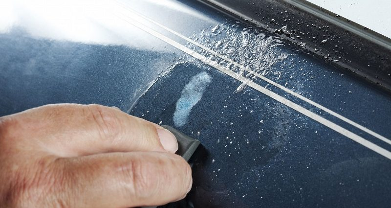 How to fix deep scratches on car door