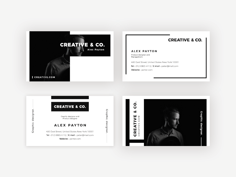 Card with a professional look
